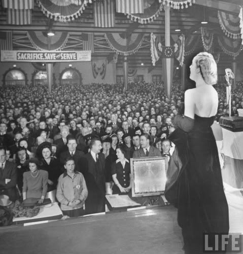 Carole Lombard's final appearance at a war bond tour prior to her death in 1942 at age 33