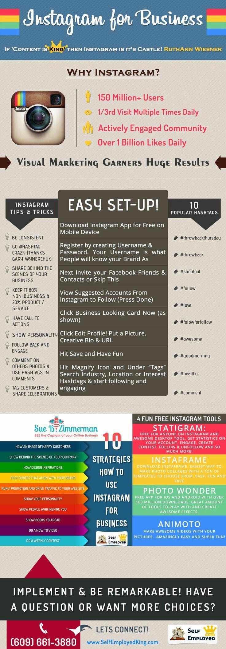 instagram for business #instagram #Infografica #infographic, statistiche e spunti di riflessione. #diellegrafica