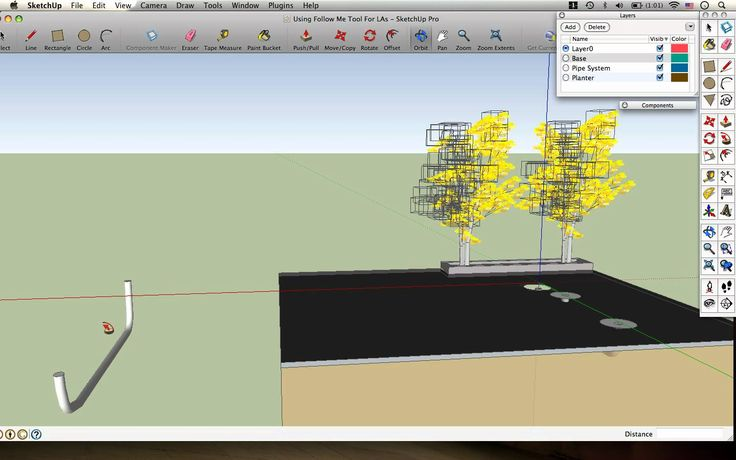 Designing with the Follow Me Tool - The SketchUp for Landscape Architects