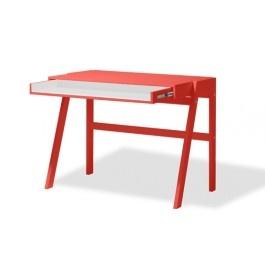 Escrivaninha Oslo Vermelha e Branca
