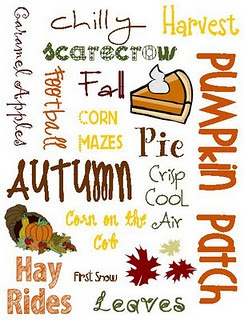 Fall Subway Art Printable!