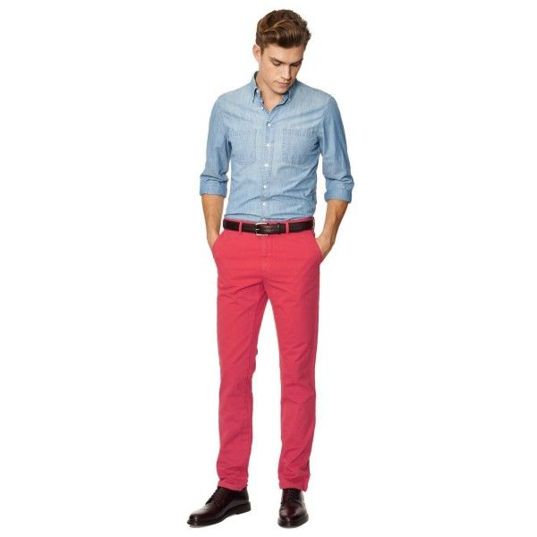 GANT pantalon Soho chino rouge vif