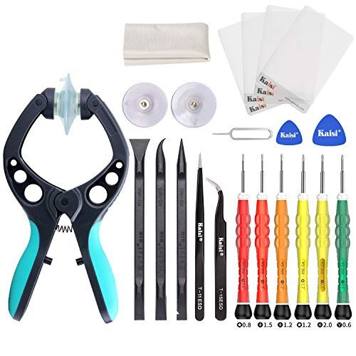Kaisi Electronics Screen Opening Tool Kit Cellphone Suction Cup Pliers Repair Kit Compatible For Iphone Ipad Imac Laptops Tablets And More Screen Opener
