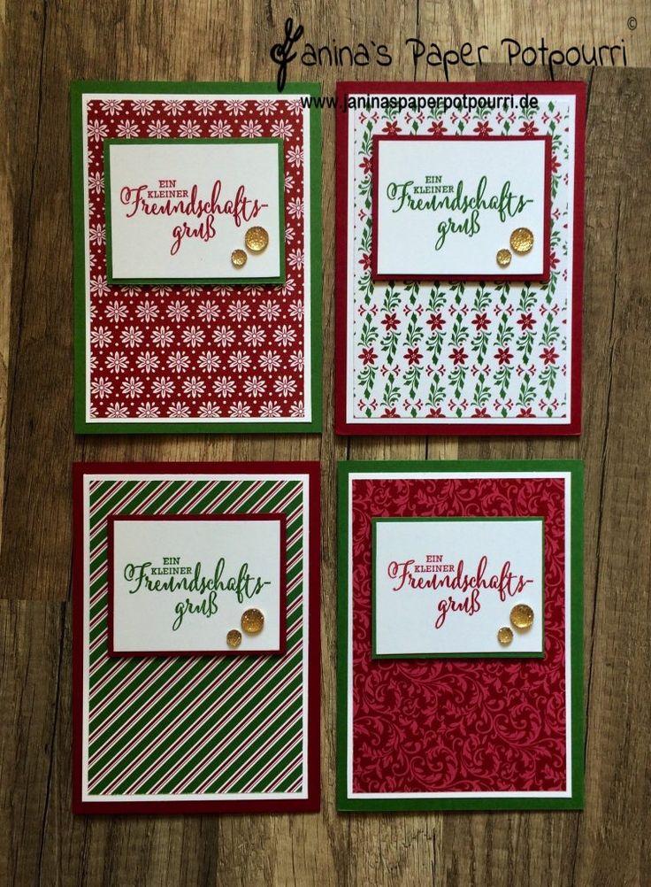 """jpp – Kartenset """"Elegante Weihnachten"""" / Christmas Cards / Stampin' Up! / Tu, wa…"""
