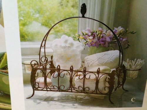 Brand NEW Southern Living at Home Acanthus Centerpiece Basket w/ Votive Holders