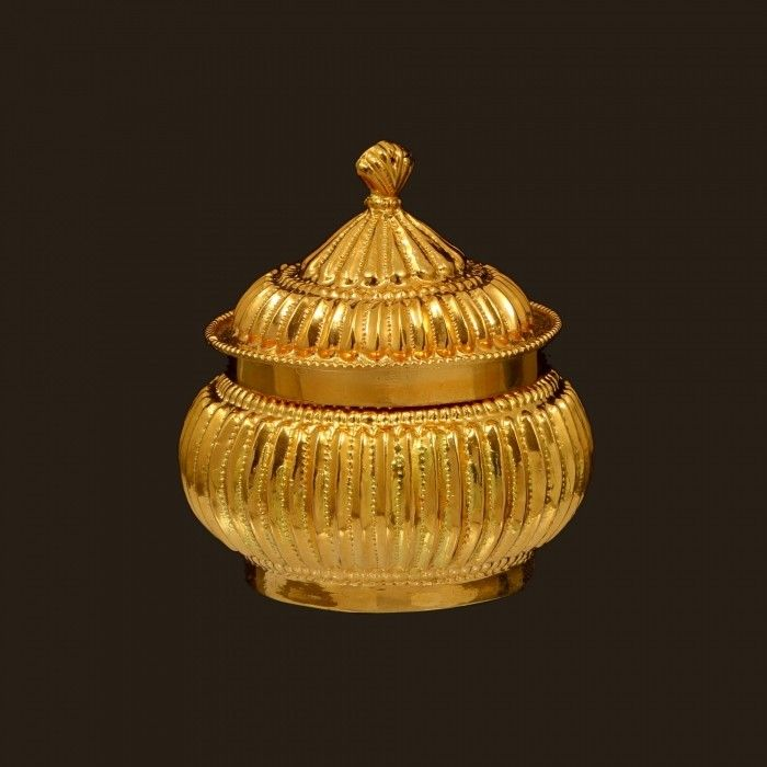 Gold Kumkum Box (VBJ-OW-GA-25)   Vummidi Bangaru Jewellers