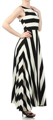 Sexy Stripe Maxy Dress – Butterfly Boutique