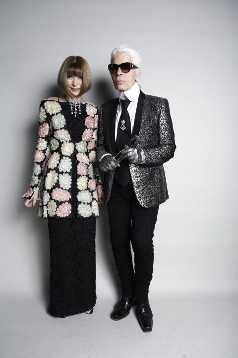 Backstage with Anna Wintour & Karl Lagerfeld - winner of the 2015 Outstanding Achievement Award #BFA