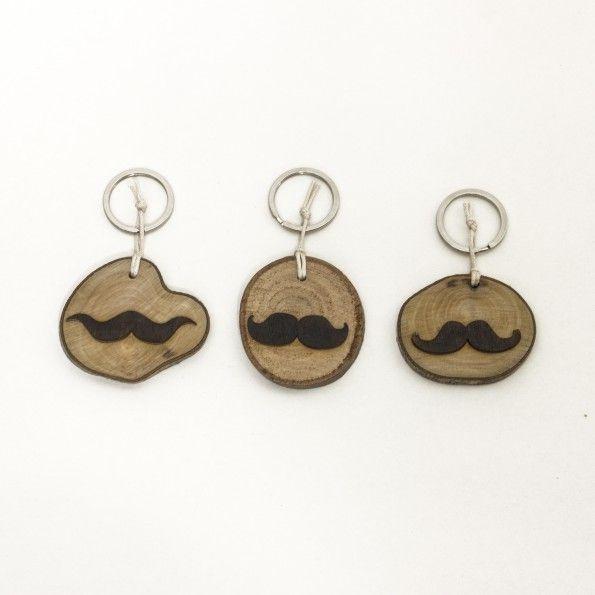 3D Mustache Key Ηolders