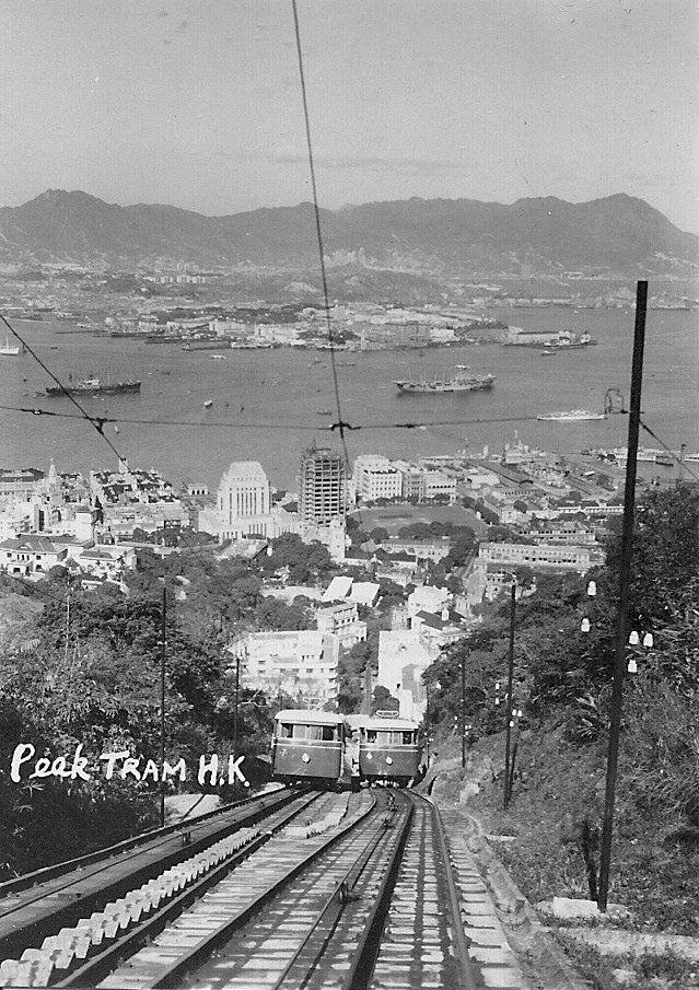 Hong Kong Peak Tram in 50s