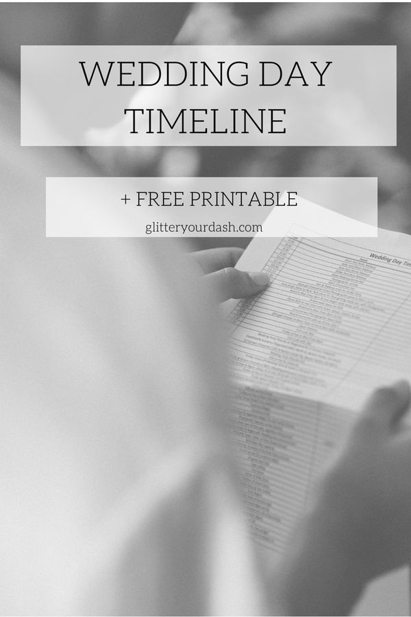 Make your Wedding Day Easy with Our FREE Timeline Template + A Giveaway