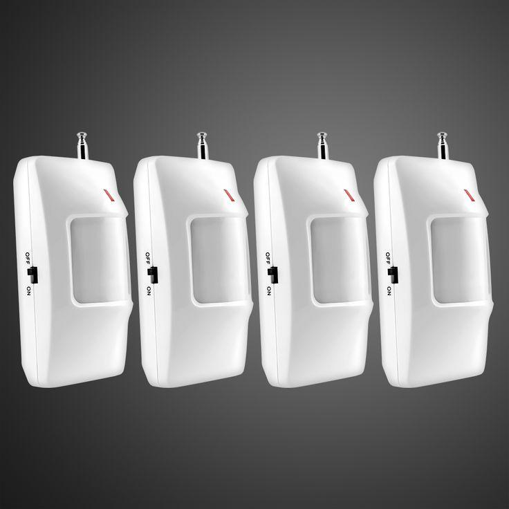 4 unids/lote 315/433 mhz pir motion sensor detector para wireless gsm/pstn dial auto del sistema de alarma de la seguridad casera sin batería