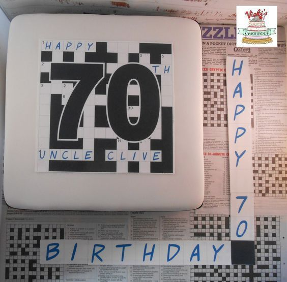 Decorated Cream Cakes Crossword