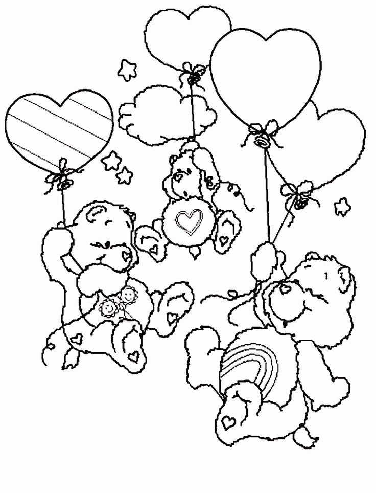 Coloring Pages Fun Care Bear