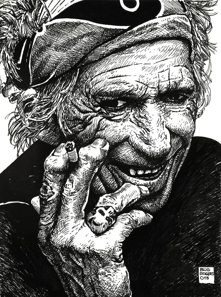 Keith Richards Tribute by EnricBug