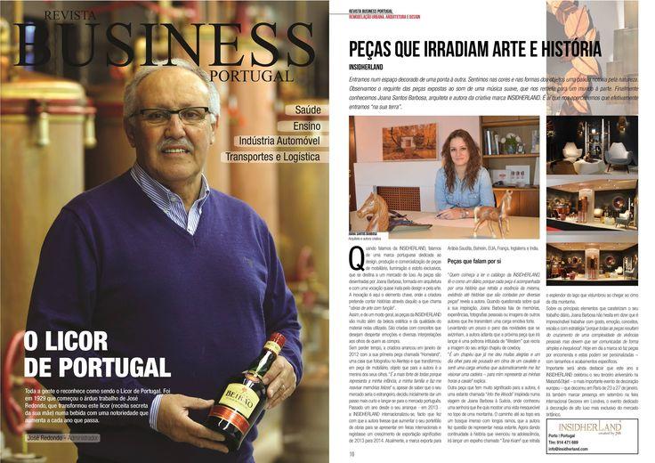 INSIDHERLAND | Interview to Joana Santos Barbosa for Jornal I, Revista Business Portugal
