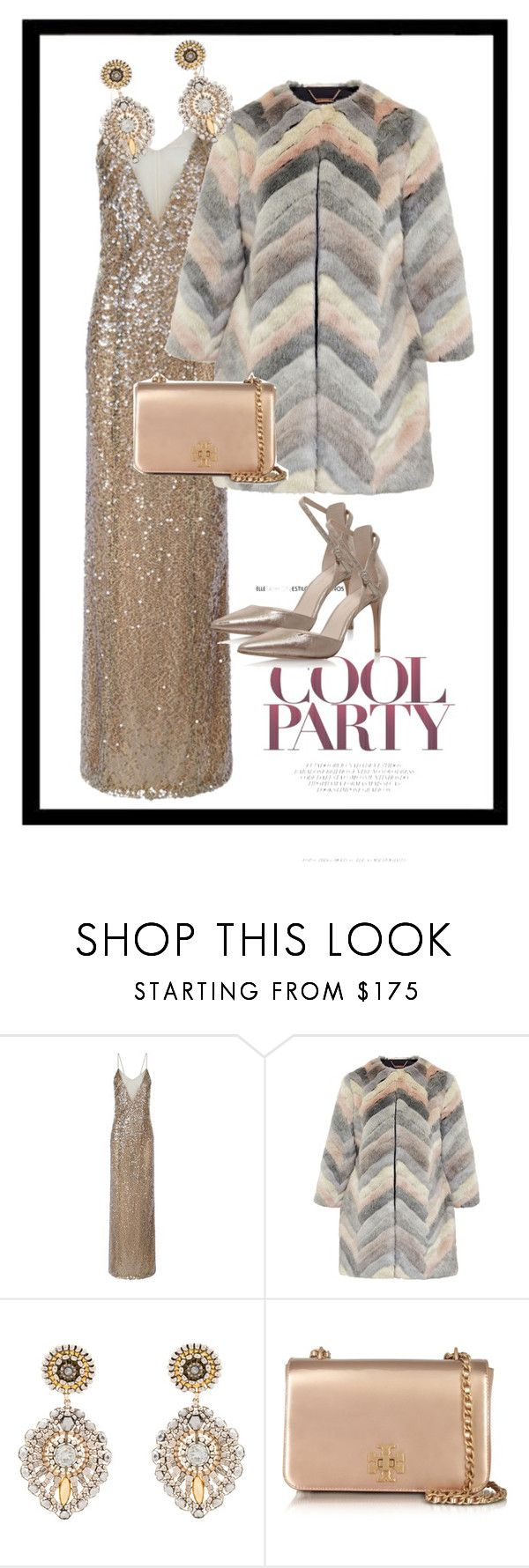 """""""New Year Pretty 2"""" by nata-zi ❤ liked on Polyvore featuring Galvan, Nine West, Ted Baker, Miguel Ases and Tory Burch"""