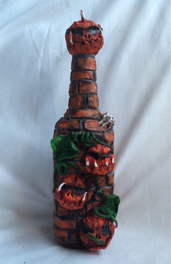 Clay bottle decorative bottle Halloween by myfantasyworldanna