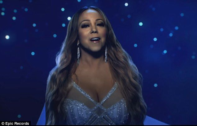 Shining star: On Wednesday Mariah Carey released the video for the theme song of animated film The Star, which tells the nativity story from the point of view of the animals there