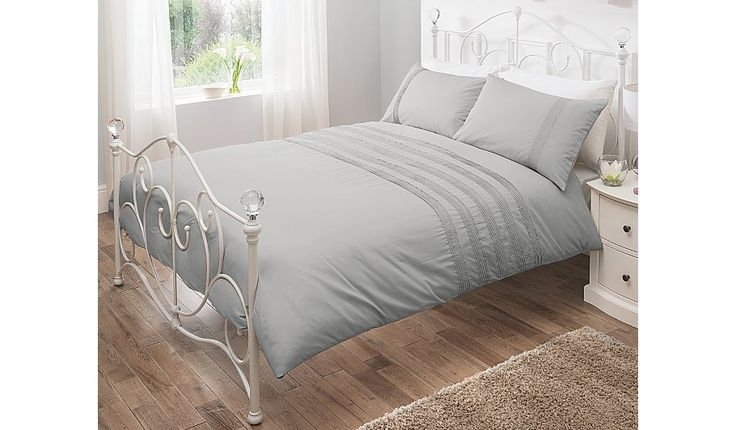 Buy George Home 100% Cotton Grey Pintuck Duvet Set from our Bedding range today from George at ASDA.