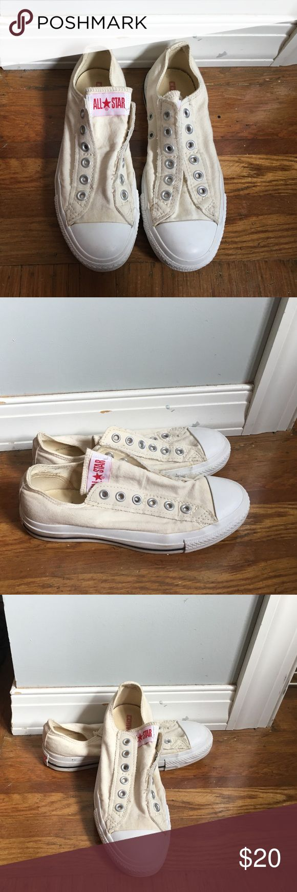 Converse Slip On Chuck Taylors - only worn once!!! Only worn once, these Chucks are super comfortable and perfect for any season. Converse Shoes Sneakers