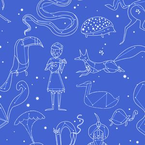 Lizzy House - Constellations - Constellation in Blue