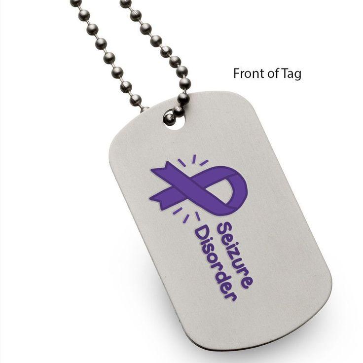 Seizure Disorder Dog Tag Partial Proceeds Benefit the Epilepsy Foundation Eastern Pennsylvania #doganxietymedication