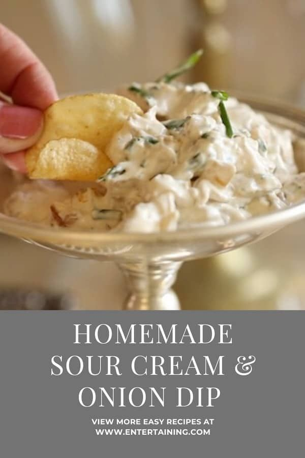 Sour Cream And Onion Dip Recipe In 2020 Homemade Sour Cream Sour Cream Dip Recipes