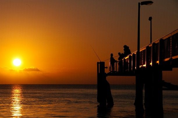 Sunset at North Stradbroke Island, Queensland, Australia