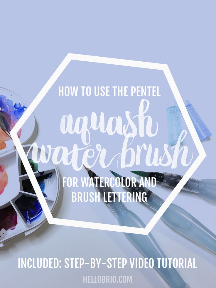Click to learn how to use the Pentel Aquash water brush pen for watercolor. A full video tutorial and a list of tips will get you up and running for watercolor art and brush lettering!