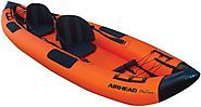 Small Portable 2 Man Fishing Boats | AIRHEAD AHTK-2 Montana Performance 2 Person Kayak