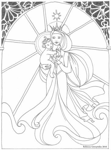 Ave Maris Stella Coloring Page