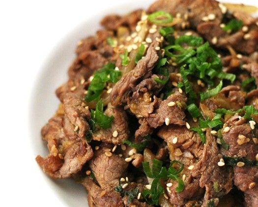 Bulgogi (Koreaans gemarineerd rundvlees)