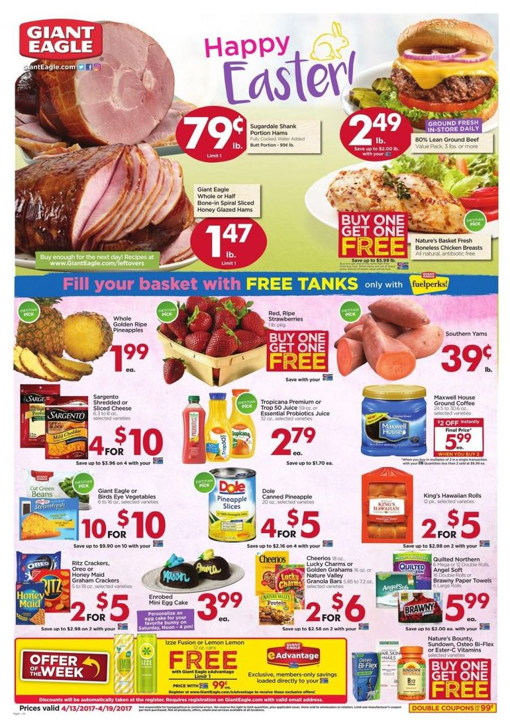 Giant Eagle Weekly Ad Circular 4/13 - 4/19 Happy #Easter United States #grocery #GiantEagle