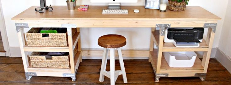 DIY: How to Build a Workbench-Style Custom Desk
