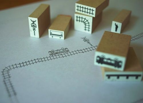 電車や線路デザインの鉄道スタンプ(はんこ)がおもしろい。子供が喜ぶおすすめの鉄道グッズ。