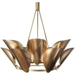 Petal Brass Metal Chandelier