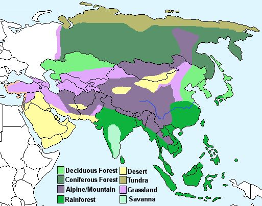 Asia Climate Map Asia Pinterest Asia Biomes And Country - Biome map of the us drawing