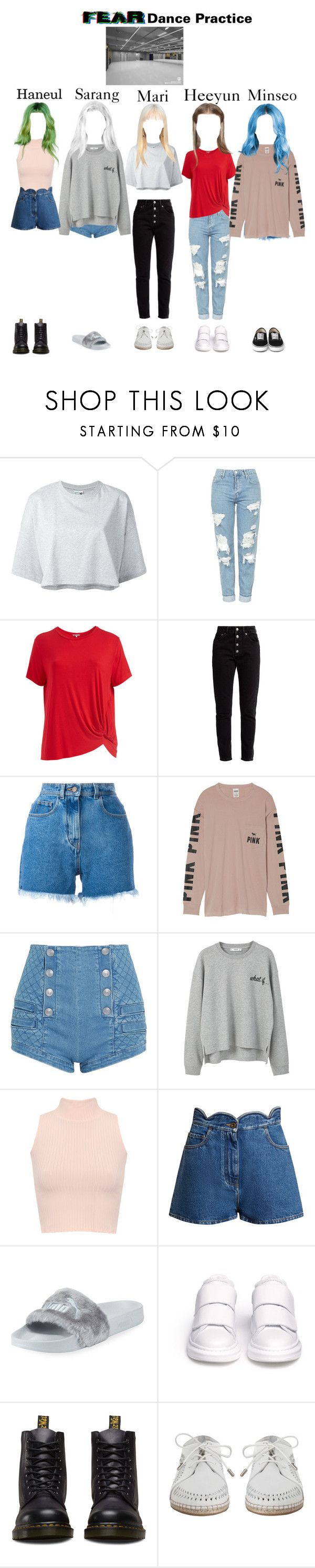 """Fear Dance Practice"" by dfyofficial ❤ liked on Polyvore featuring Puma, Topshop, Abito, Balenciaga, Philosophy di Lorenzo Serafini, Victoria's Secret, Pierre Balmain, MANGO, WearAll and Valentino"