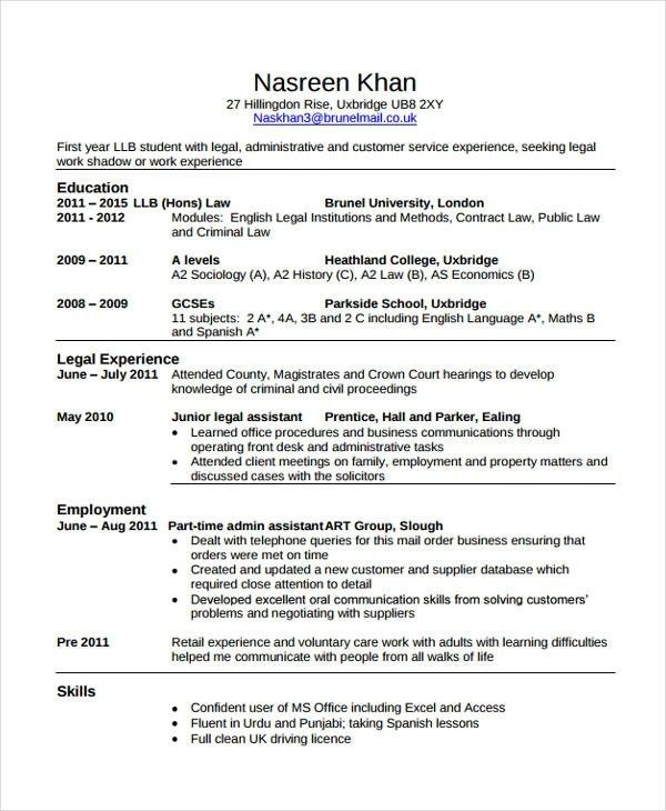 Law Cv Template Magdalene Project Student Resume Job Resume Examples Job Resume Template
