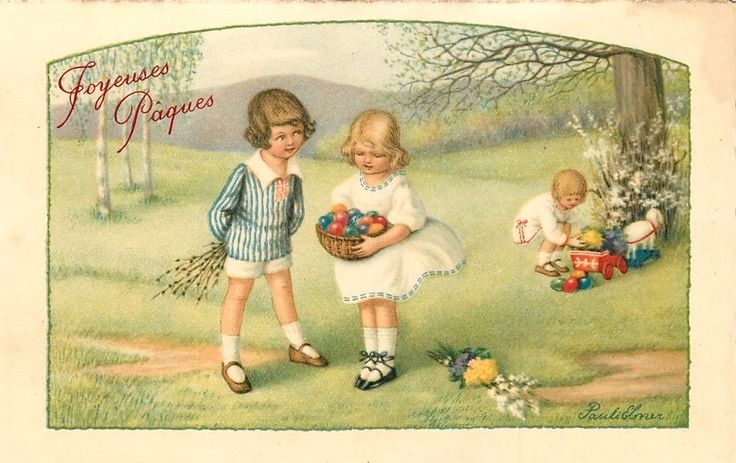 Pauli Ebner (1873-1949) — Old Easter Post Cards (960x605)