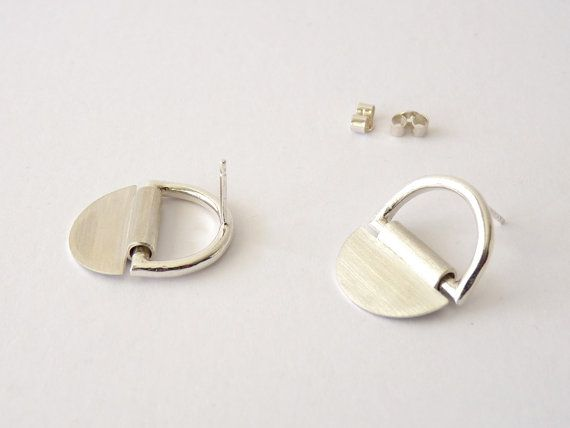 EARRINGS sterling silver contemporary jewelry abstract by anapina