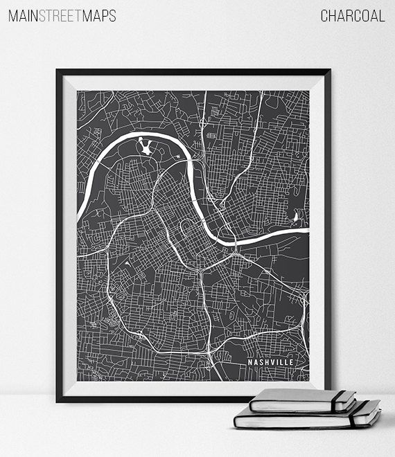 Nashville Map Print, Nashville Poster of Tennessee Map of Nashville Print Gift Nashville Tennessee Art Lipscomb University Poster Dorm Room