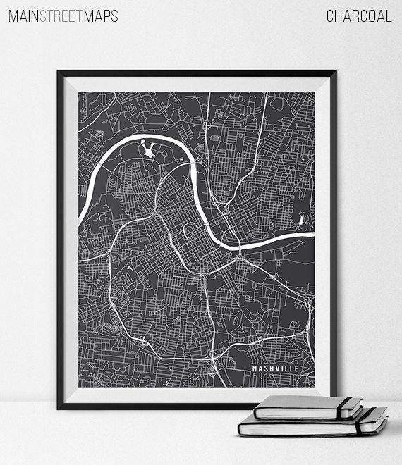 Nashville Map Art Print Nashville City Map of by MainStreetMaps https://www.etsy.com/listing/226737888/nashville-map-art-print-nashville-city?ref=shop_home_active_11