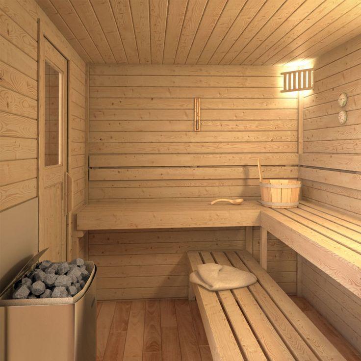 ISIDOR Sauna extérieur Sauna cabine Sauna 2x2 m toit en panneaux de bois massif
