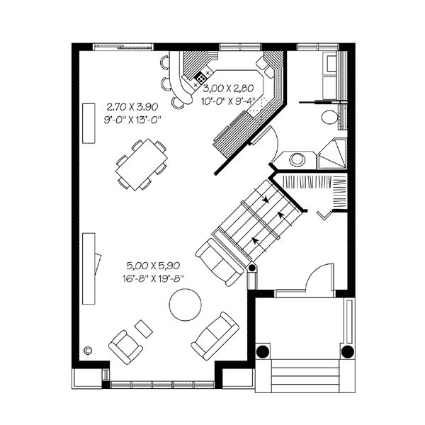 7 best best 4 or 5 person houses images on pinterest for 28x32 floor plan