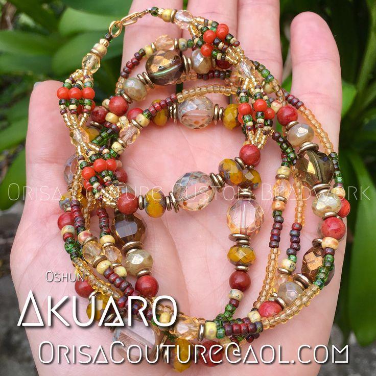 Ide and Ileke Oshun Ibu Aparo For inquires, please send an email to OrisaCouture@aol.com #ide #ileke #oshun #osun #ochun #iyalode #olosun #ibuakuaro #ibuaparo #orisa #orisha #lukumi #santeria #yoruba #diaspora #orisacouture