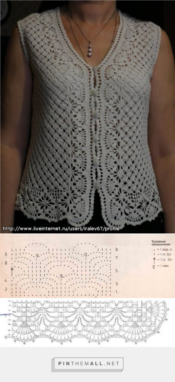 Crochet chaleco blanco