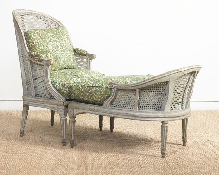 a louis xvi graypainted carved and caned duchesse brise circa stamped