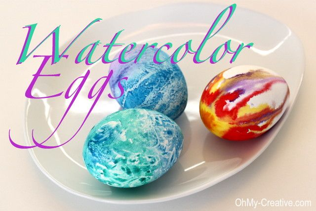 Hand Painted Watercolor Easter Eggs